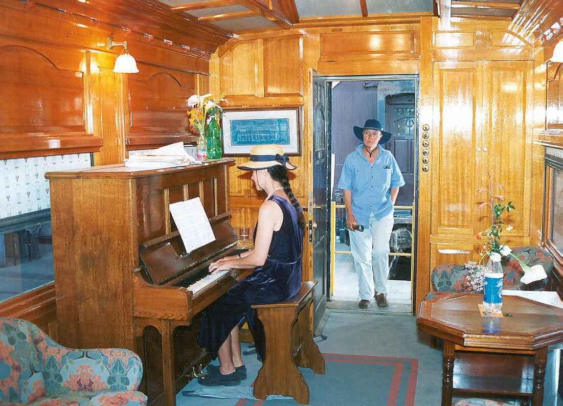 Interior of South Australian Governor's coach