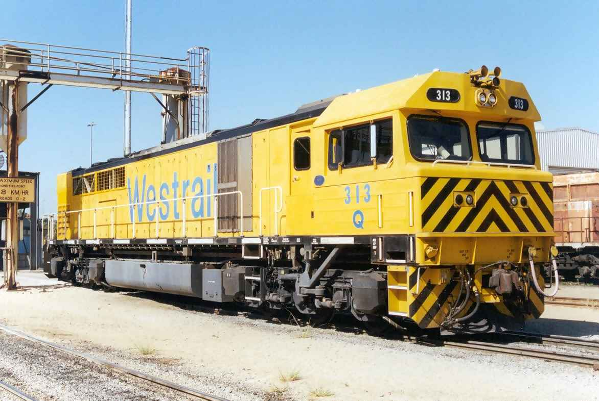 Q313 at Forrestfield Motive Power Deopt - January 2001
