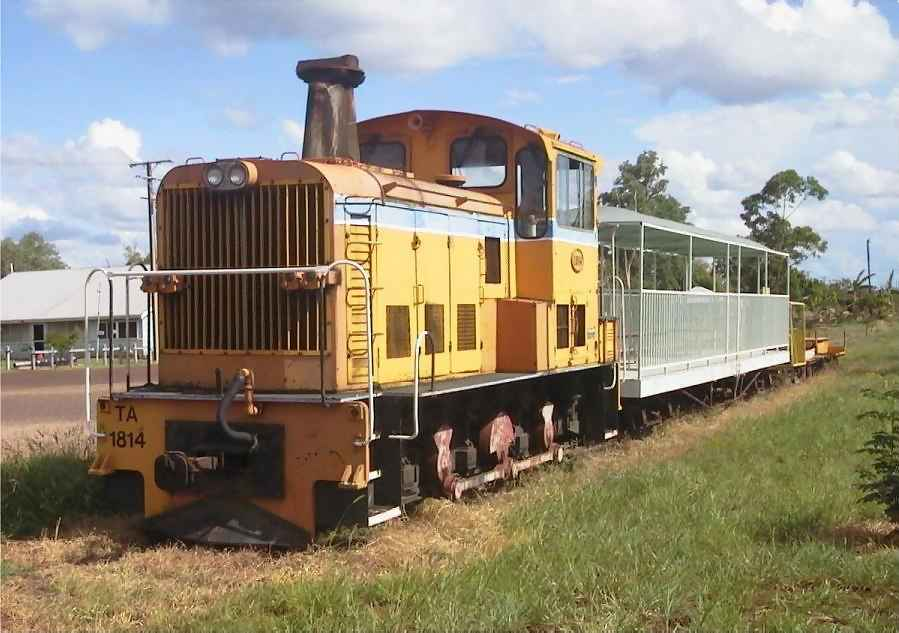Former Westrail shunting unit T1814 at Larrimah, Northern Territory - date unknown - any info about this proposed tourist project is welcomed - please email me any details- Photographer unknown